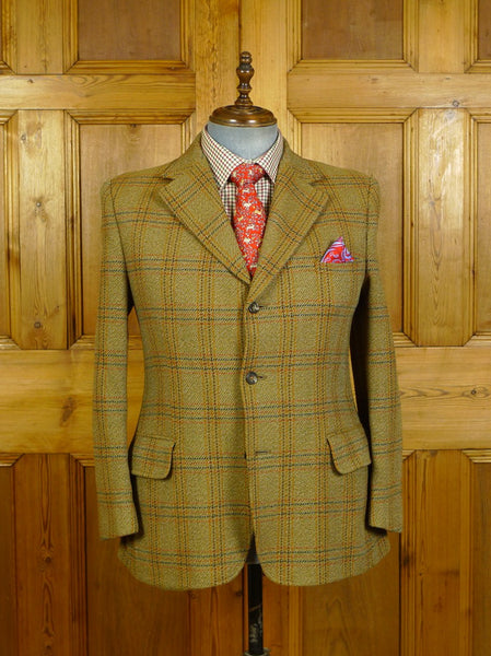 20/0487 vintage west of england wool bold check tweed jacket 41-42 short
