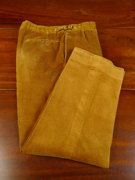 20/0483 immaculate norton & sons savile row bespoke tan brown corduroy trouser 34