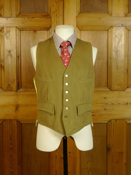 20/0540 vintage west of england doeskin wool country waistcoat 39 regular