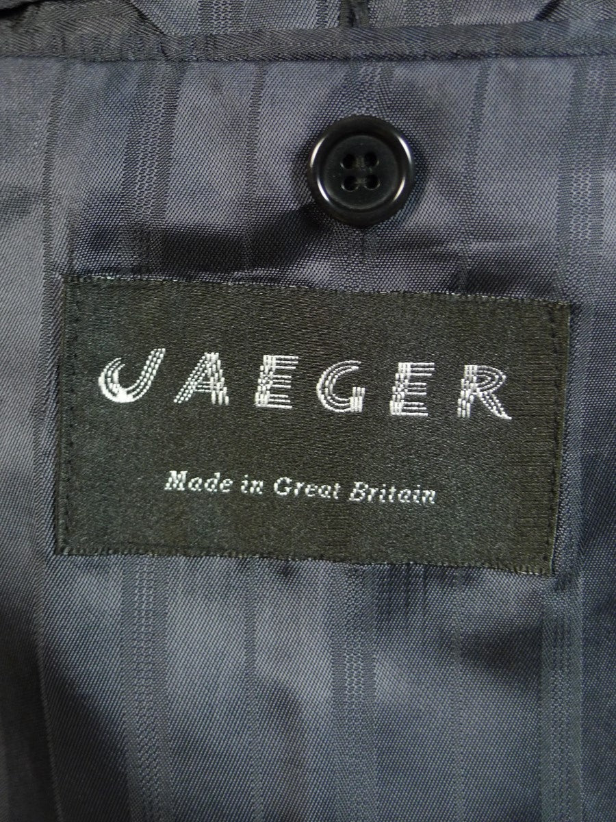 20/0531 immaculate vintage jaeger wool & 30% silk dogtooth check blazer sports jacket 44 short
