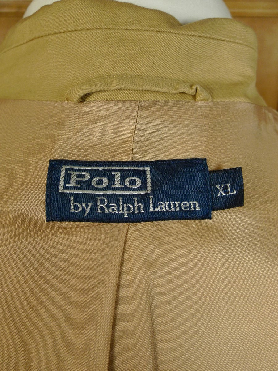20/0553 ralph lauren polo beige cotton blazer jacket xl