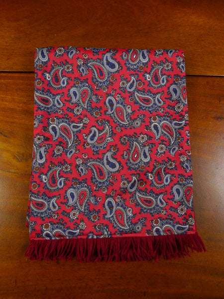 20/0955 immaculate vintage tootal red paisley pattern tricel / wool scarf