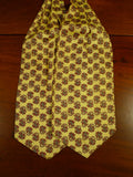 20/0573 immaculate vintage tootal yellow paisley rayon cravat