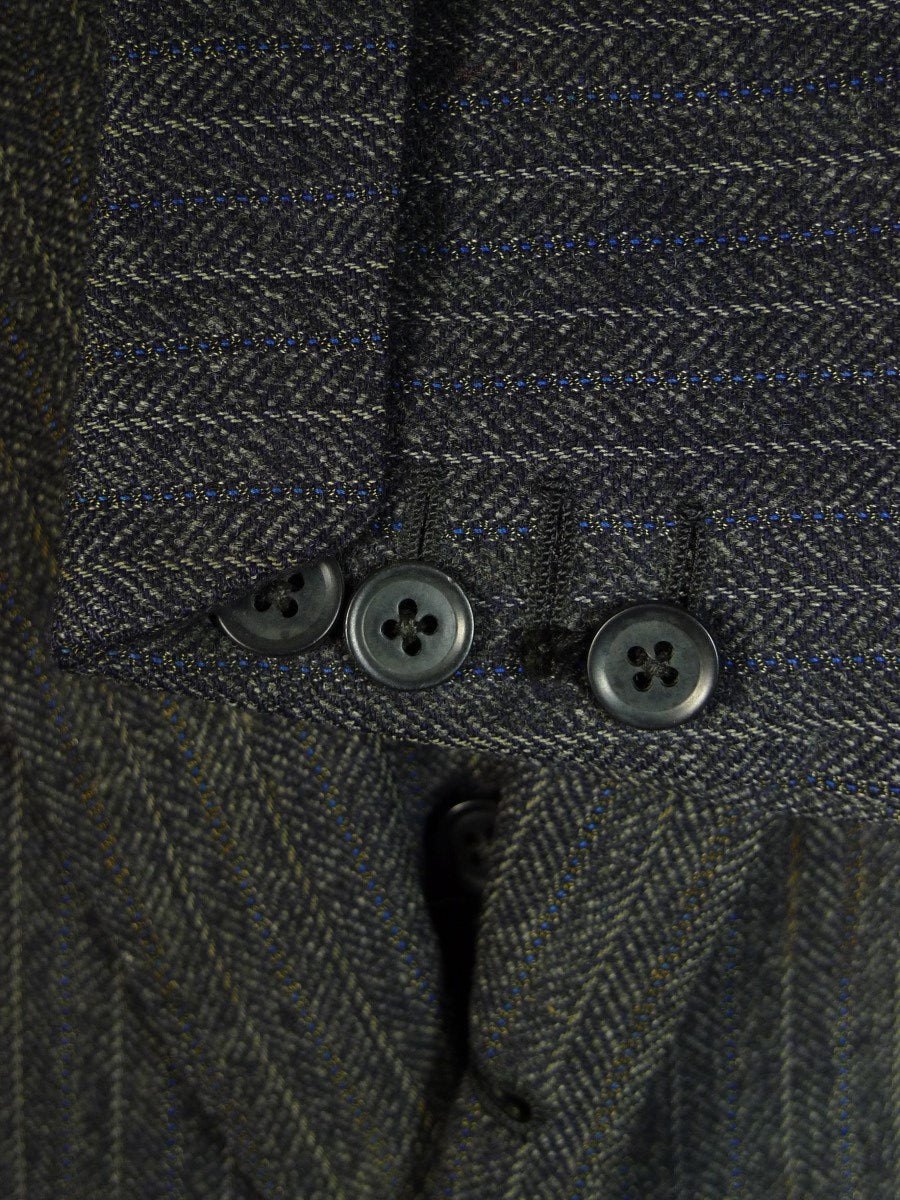 20/0600 vintage 1956 savile row bespoke heavyweight 3-piece grey tweed suit 39-40 long