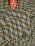 20/0607 vintage west of england wool gun check field coat overcoat 40