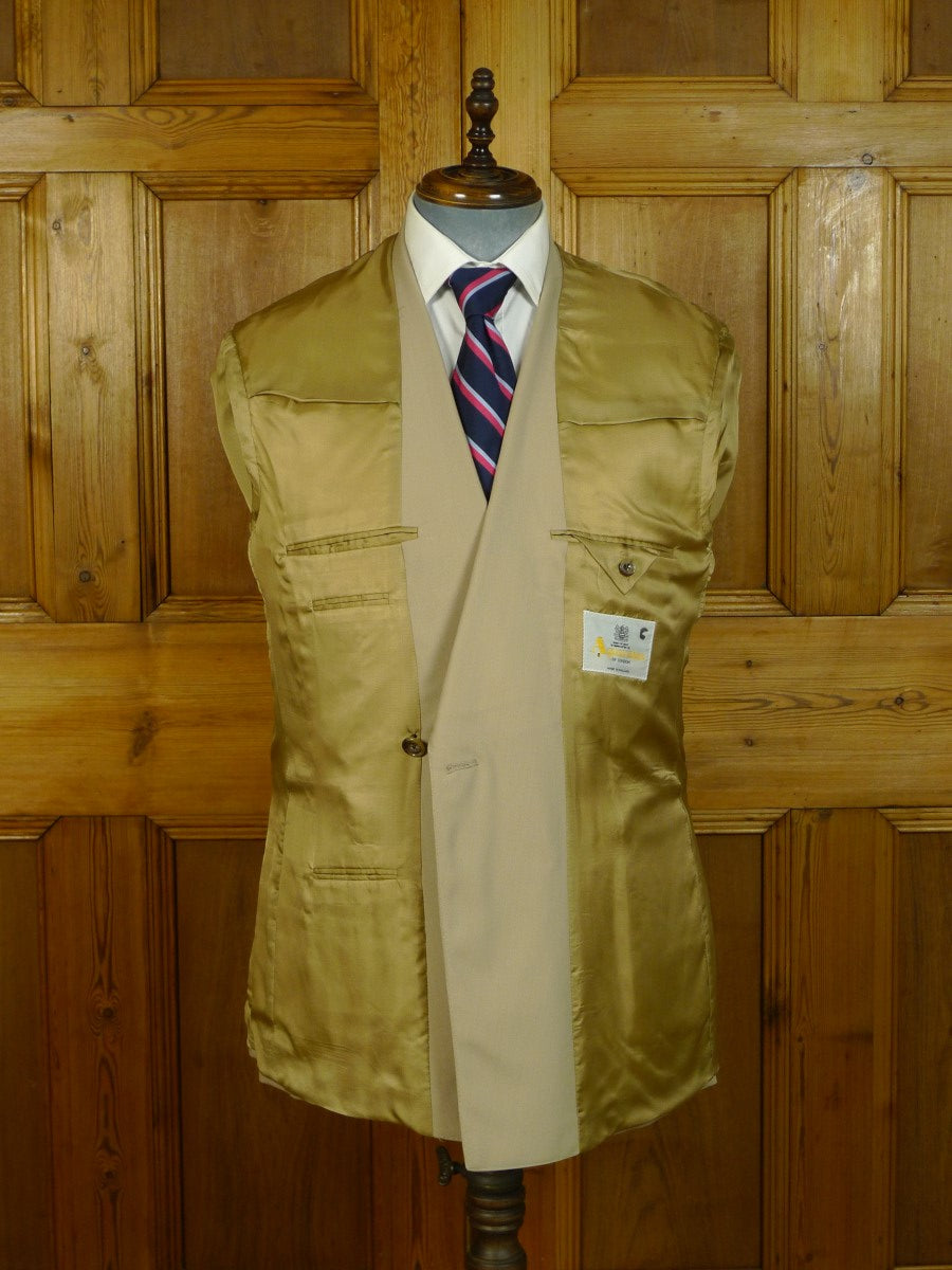 20/0647 vintage aquascutum london beige d/b wool suit 40 regular