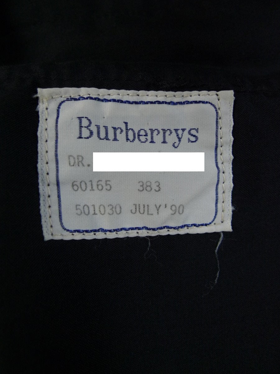 20/0673 immaculate vintage 1990 burberrys' black wool & mohair evening trouser 36-38