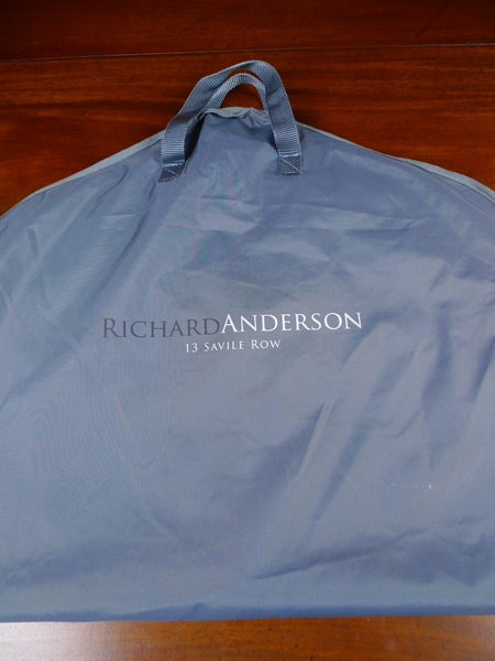 20/0684 richard anderson savile row bespoke grey suit carrier bag