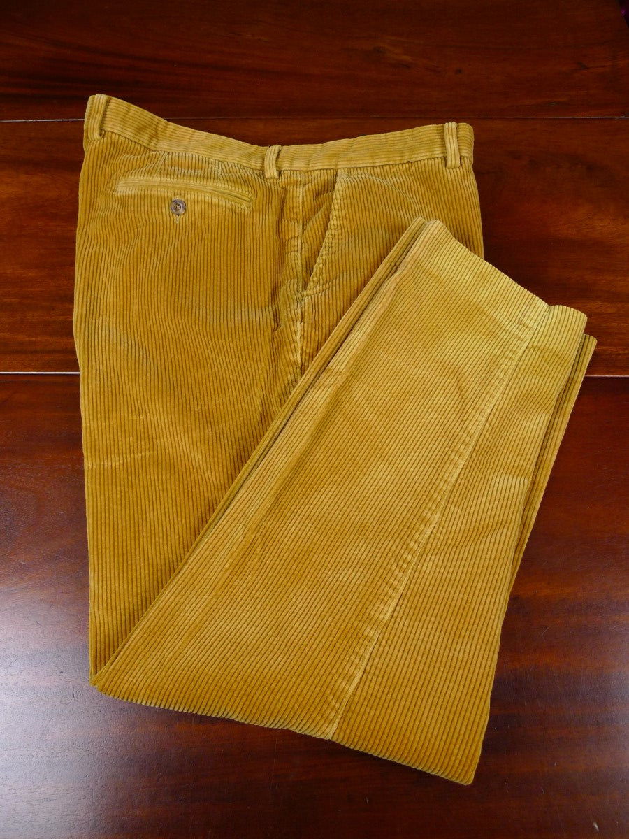 20/0710 excellent harvie & hudson jermyn st tan brown corduroy trouser 41