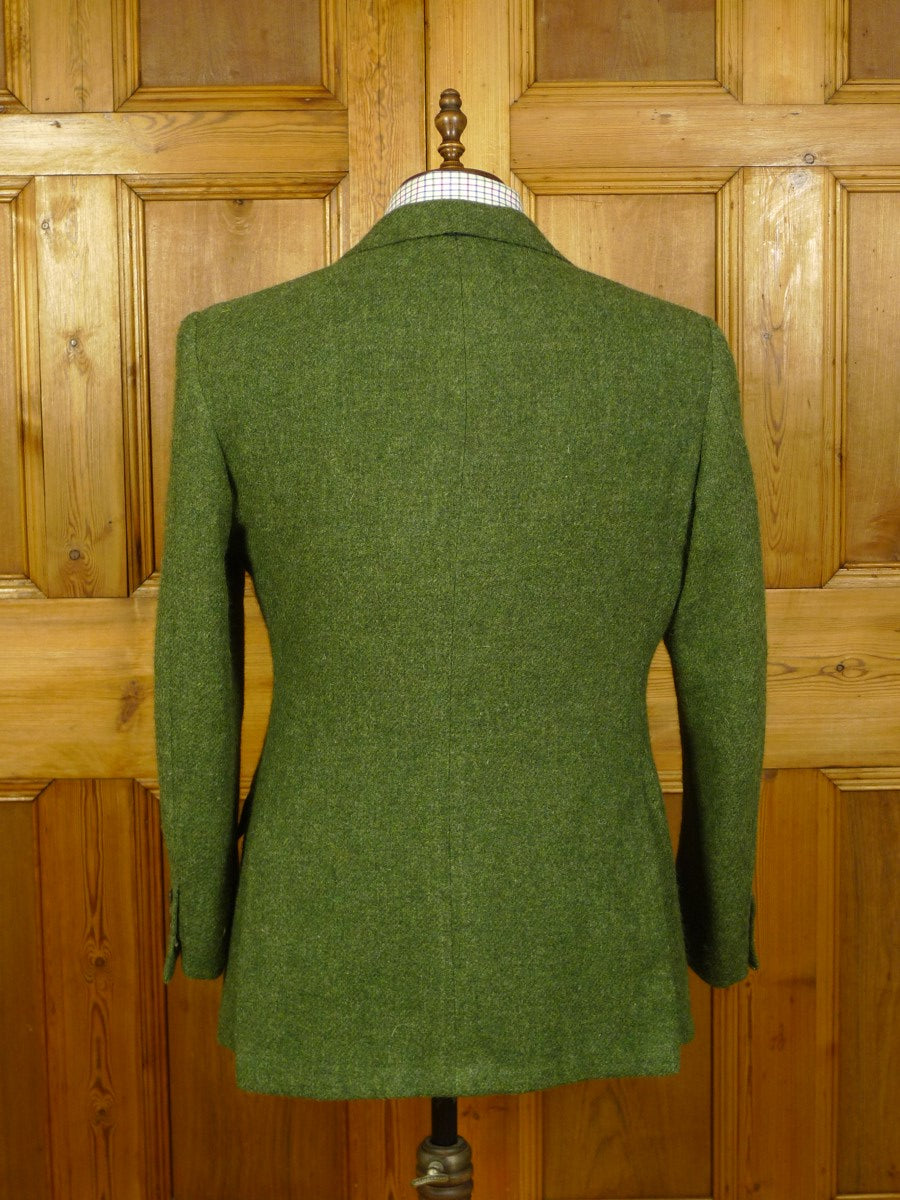 20/0703 superb 2002 dege & skinner savile row bespoke green tweed suit 42 short