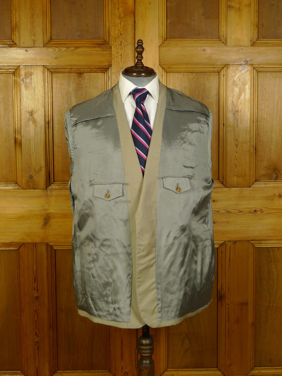 20/0736 buckleigh sw1 bespoke canvassed worsted blazer jacket 49 short