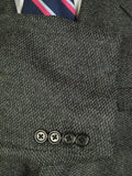 20/0735 immaculate brioni grey barleycorn weave pure cashmere sports jacket blazer 51 short to regular