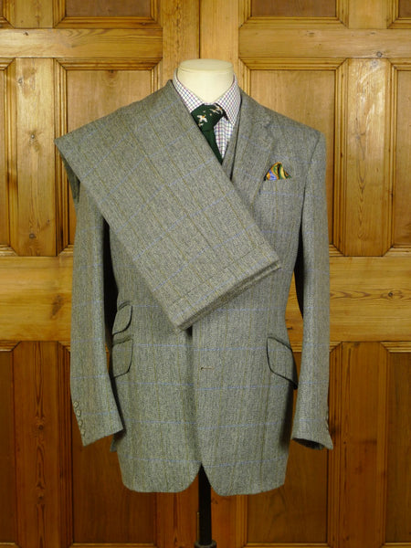 20/0734 vintage anthony powell bespoke heavyweight 4-piece tweed suit 38-40 short to regular