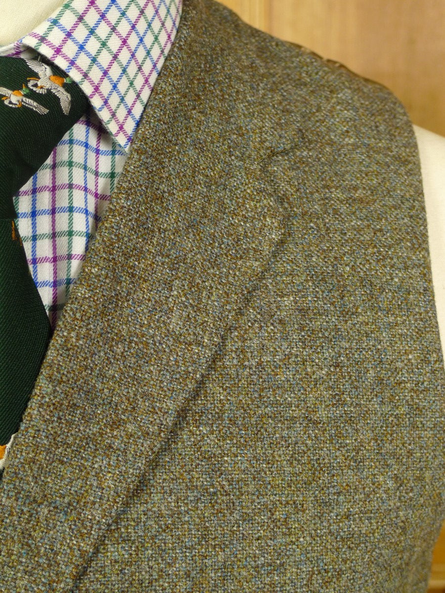 20/0743 immaculate 1950s 1960s vintage green / brown thornproof worsted twist country waistcoat & trouser 38 short to regular