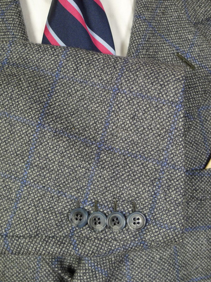 20/0753 immaculate brioni wool cashmere & silk grey / blue wp check sports jacket blazer 50 short to regular