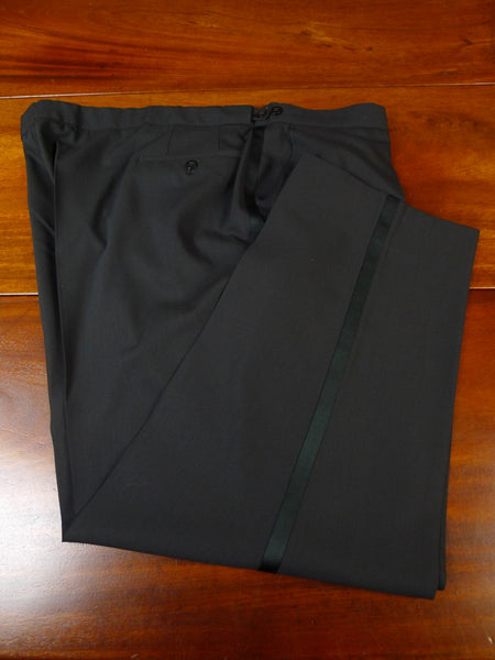 20/0767 immaculate quality modern superfine wool black evening trouser 48