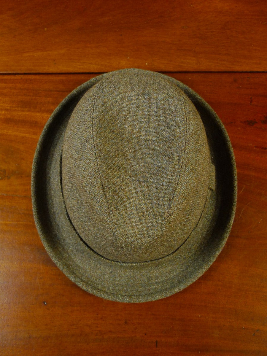 20/0760 vintage british geen thornproof twist tweed hat 55cms