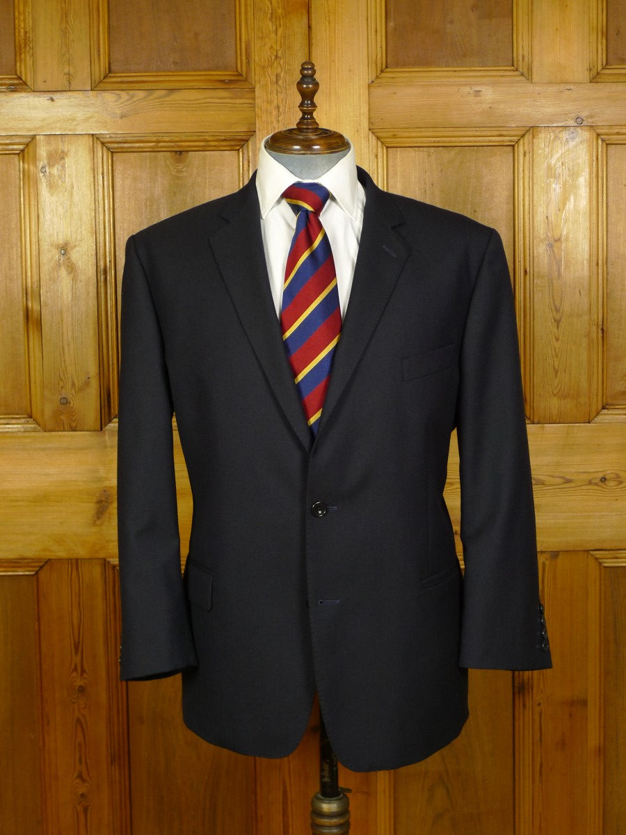 20/0780 immaculate magee navy blue wool blazer 48 short