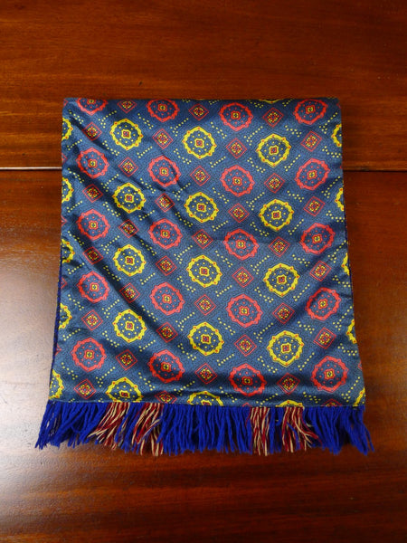 20/0953 immaculate vintage sammy blue red tricel / wool scarf