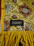 20/0946 immaculate vintage sammy lemon bronze tricel / wool scarf