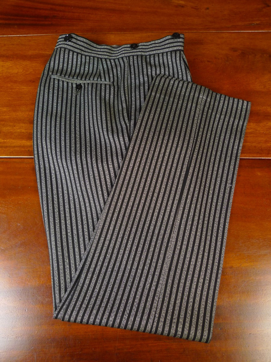 20/0827 vintage tailor made worsted morning trouser 28