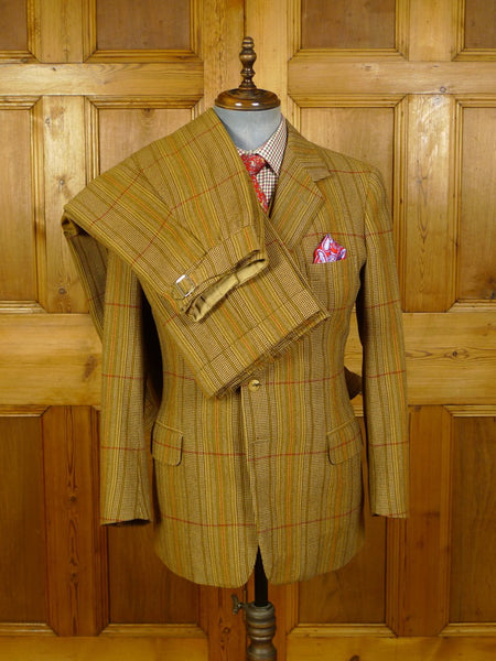 20/0815 stunning johns & pegg savile row bespoke heavyweight 4-piece tweed shooting suit - jkt / vest / trs / breeks - 39 regular