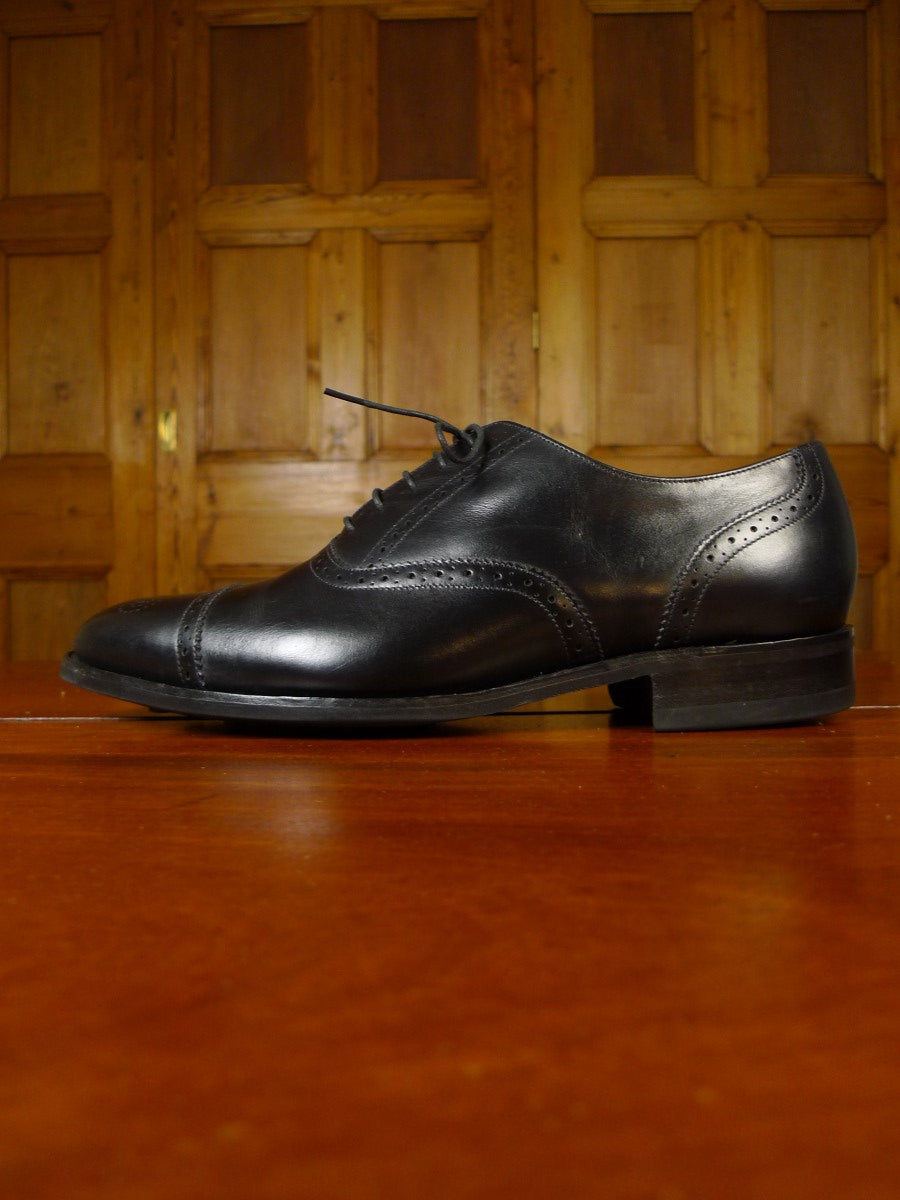 20/0821 immaculate herring shoes by barker black semi-brougue shoe w/ dainite sole (rrp £250) uk 9.5 g