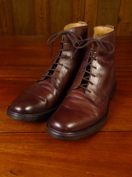 20/0818 immaculate church's brown leather 'leonardo' country boot (rrp £550) uk 8.5 f