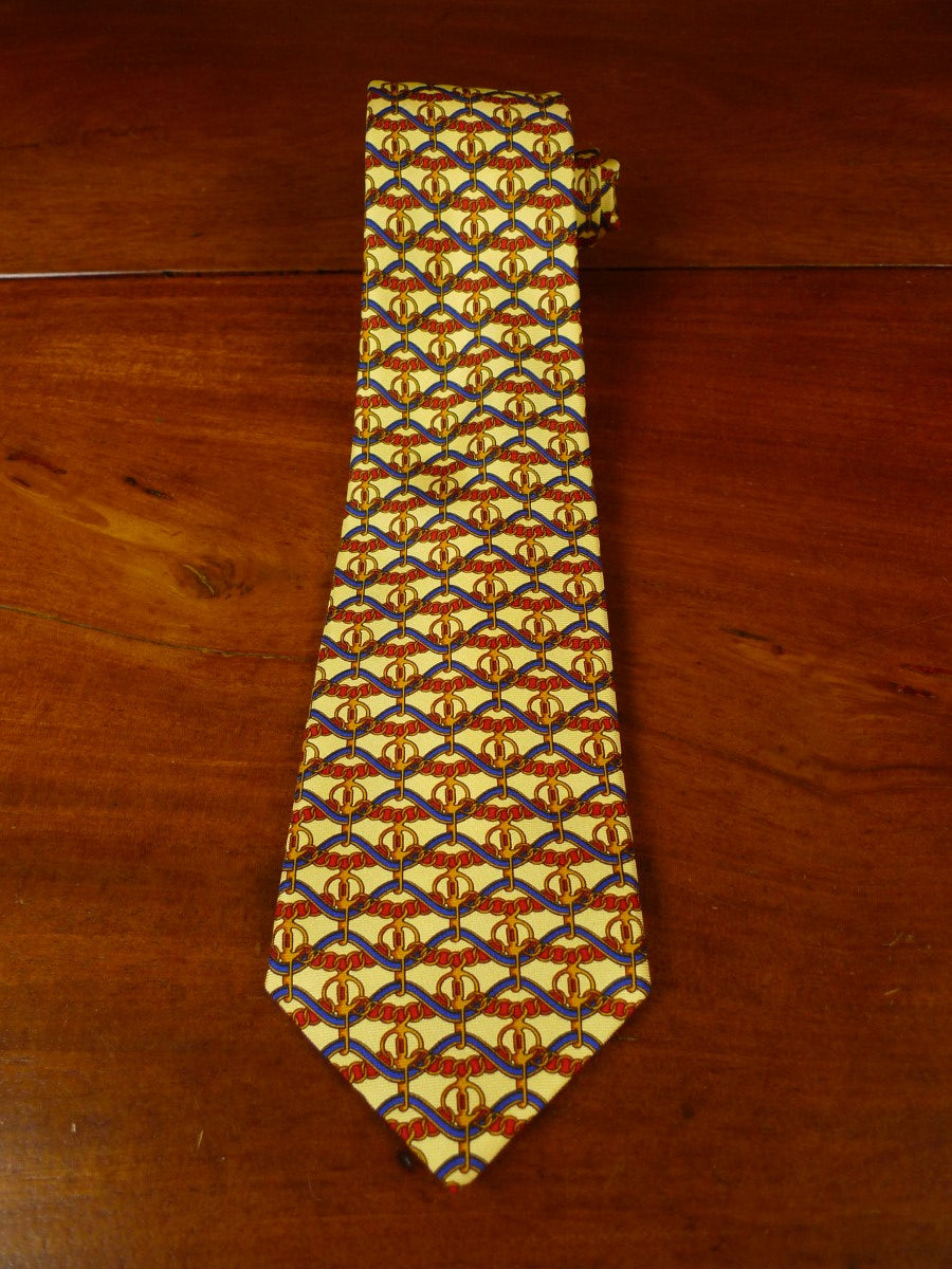 20/0833 immaculate 'pink' blue gold SILK TIE
