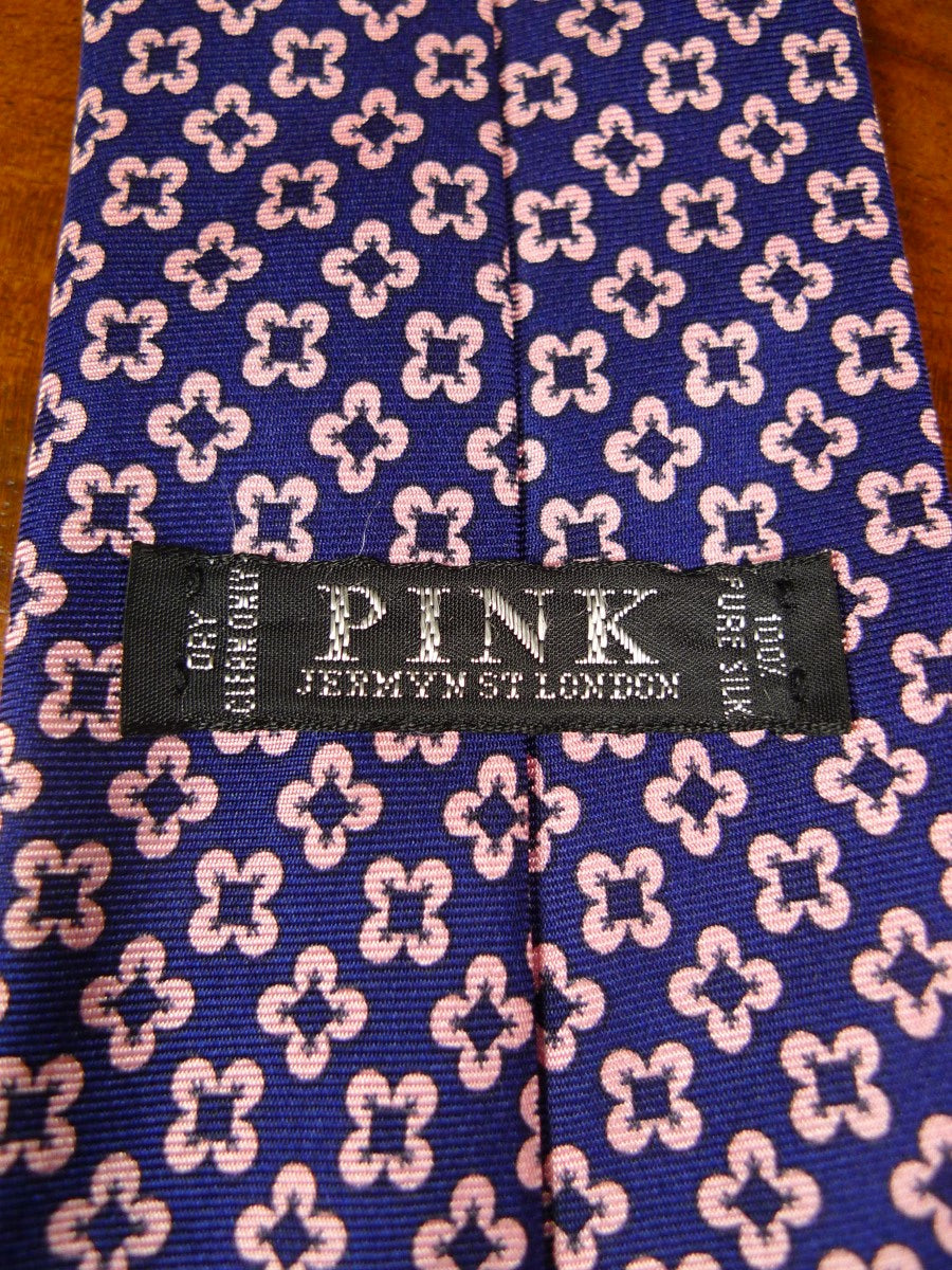 20/0859 immaculate 'pink' blue pink floral pattern SILK TIE