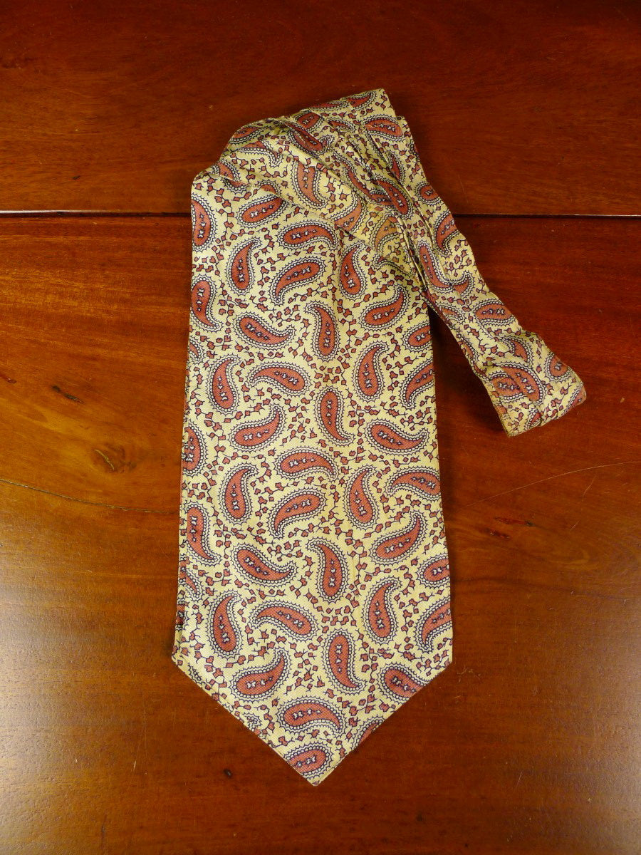 20/0851 immaculate sammy gold bronze paisley design silk cravat