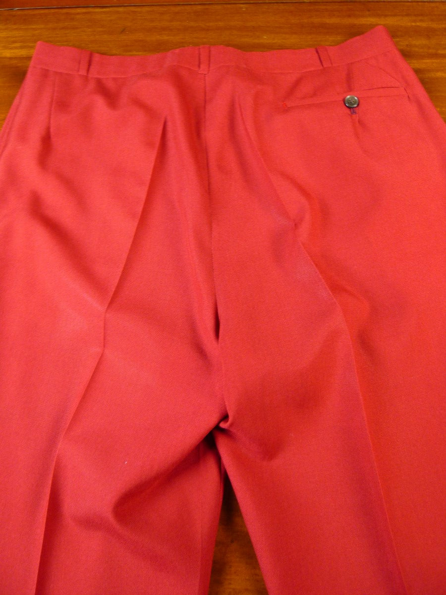 20/0894 immaculate vintage johns & pegg savile row bespoke high-rise red worsted trouser 32-34