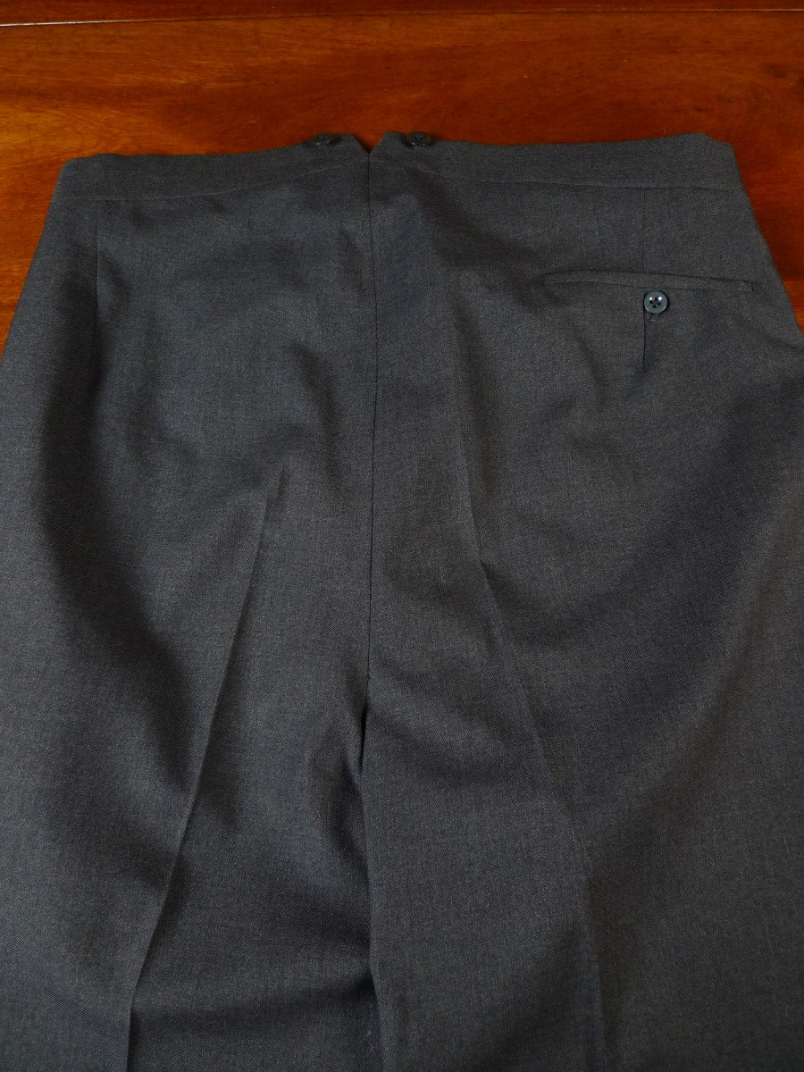 20/0878 immaculate vintage johns & pegg savile row bespoke grey d/b heavyweight worsted suit 40 regular