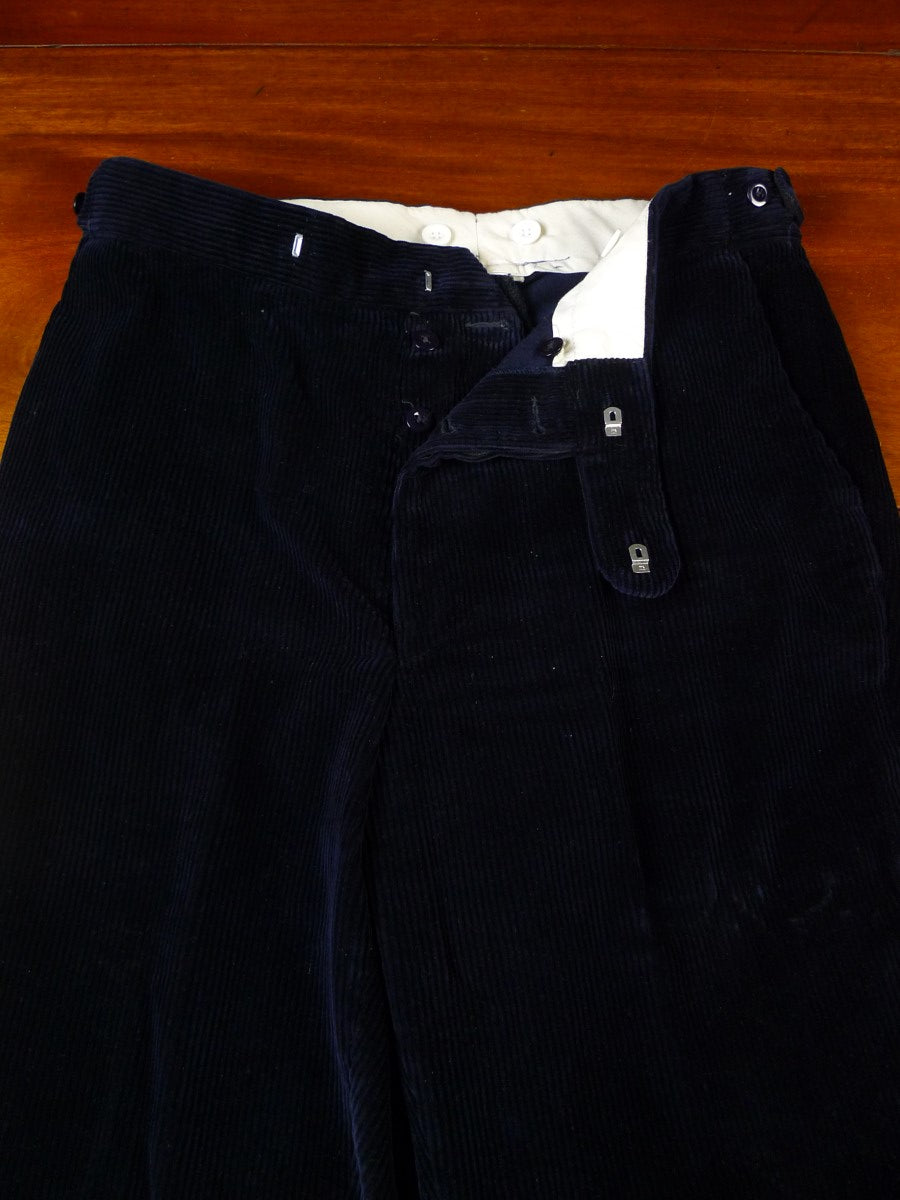 20/0883 immaculate cordings picaddilly navy blue heavyweight cotton corduroy trouser 35