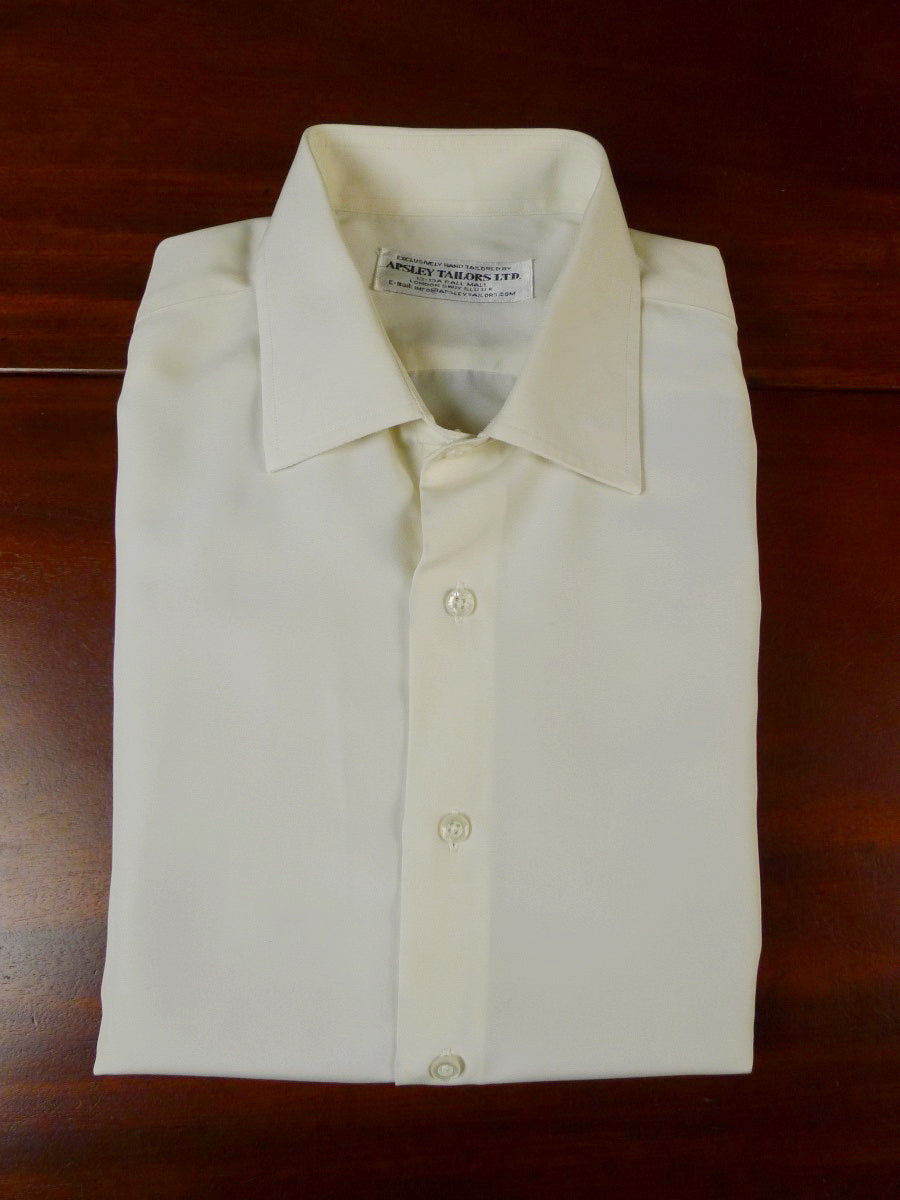 20/0903 aspley tailors  london CREAM DOUBLE CUFF silk SHIRT BESPOKE