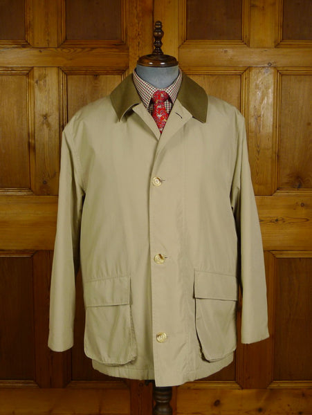 20/0921 near immaculate grenfell cotton field coat jacket w/ ghillie collar (rrp £600) 44-45