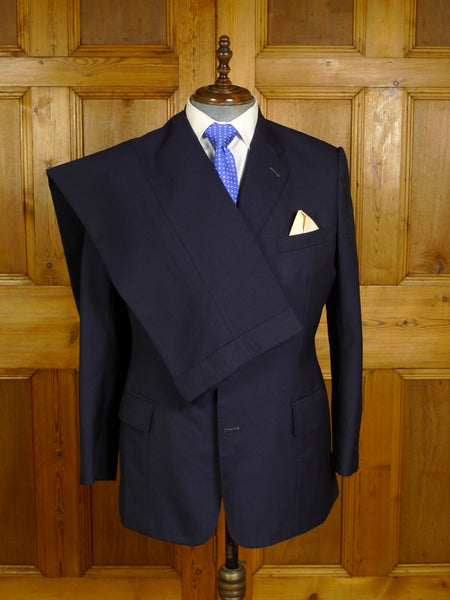 20/0922 near immaculate kilgour savile row bespoke navy blue worsted suit 42 regular