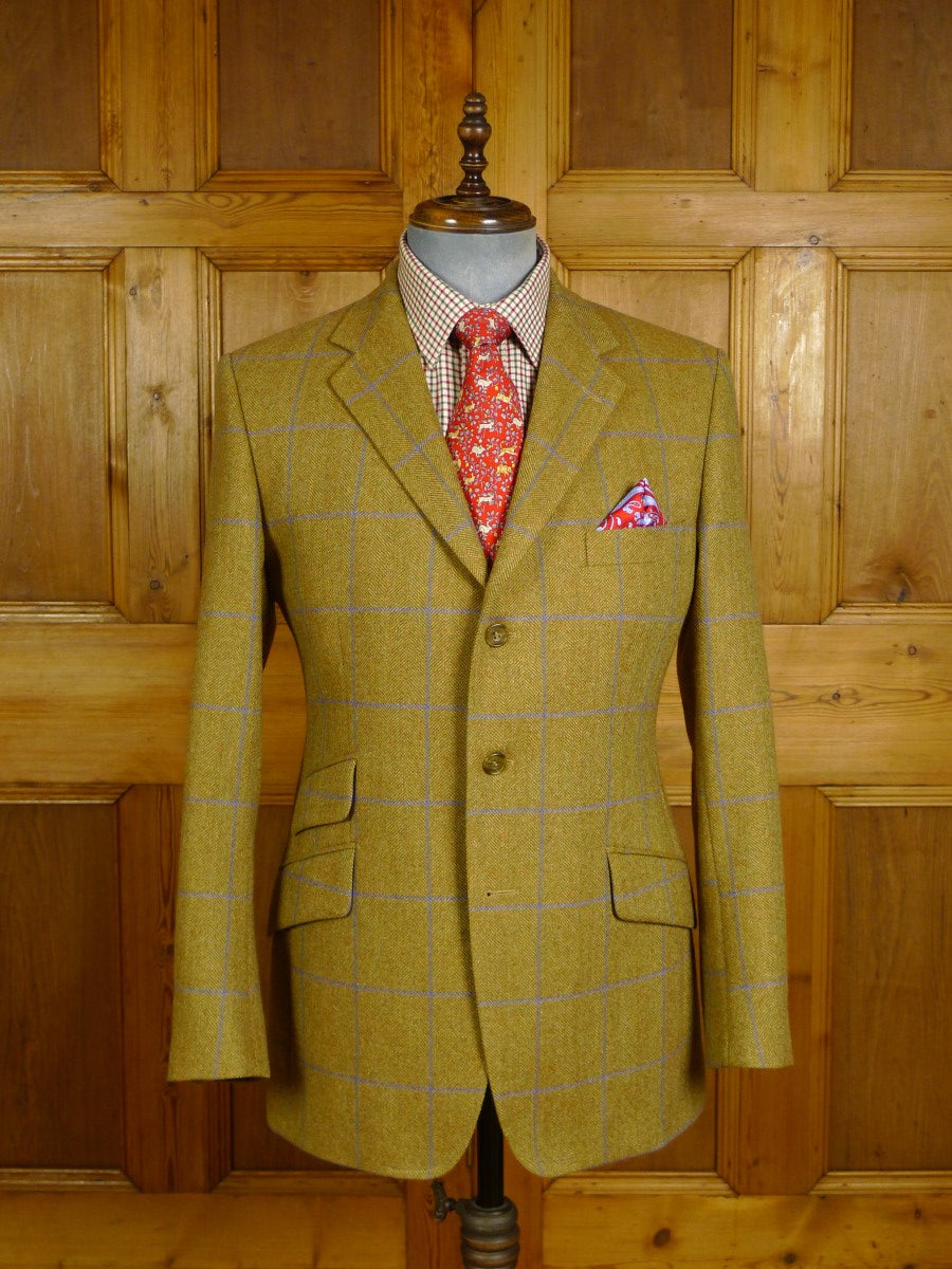 20/0917 immaculate cordings piccadilly tan wp check tweed sports jacket blazer (rrp £475) 40 regular