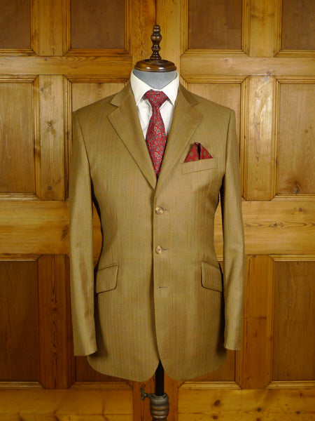 20/0916 immaculate hackett canvassed brown wp check canvassed wool sports jacket w/ working cuff 38 regular