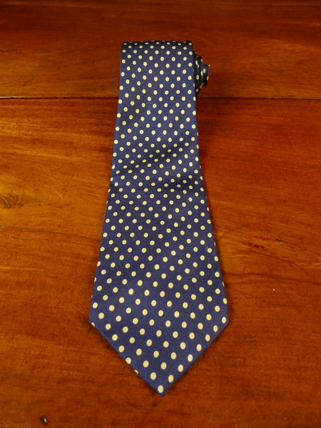 20/0944 immaculate new & lingwood navy blue gold polka dot SILK TIE
