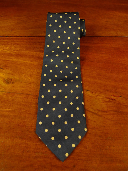 20/0942 immaculate new & lingwood black gold polka dot SILK TIE