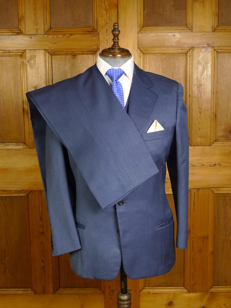 20/0965 vintage savile row bespoke blue worsted twill 3-piece suit 41-42 regular