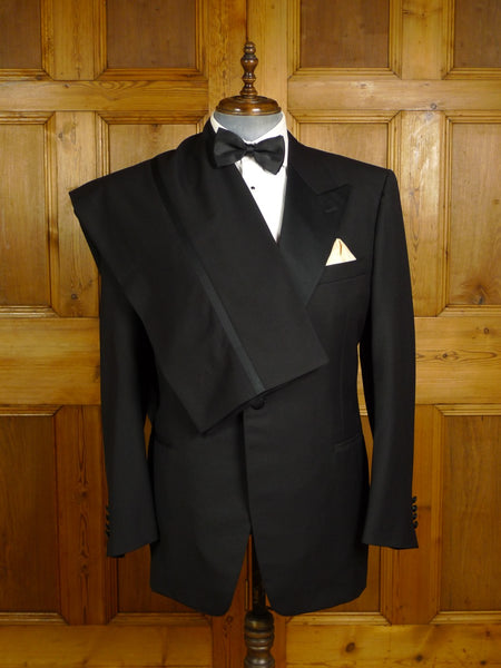 20/0974 canali for harrods black superfine wool dinner suit 46-47 regular