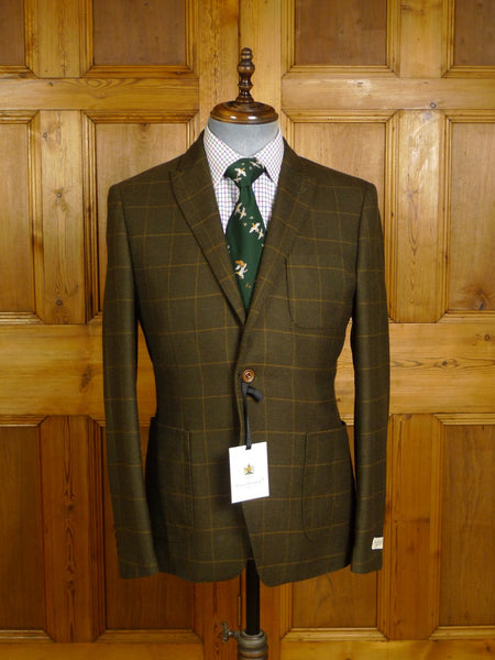 20/0971 new with tags & hanger bernard weatherill savile row rtw wp check tweed sports jacket 42
