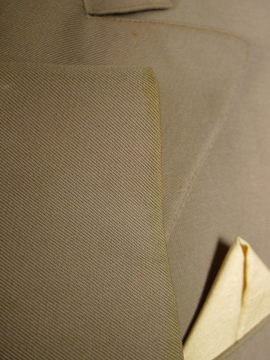 20/0963 us bespoke tailored taupe brown canvassed d/b blazer jacket 41 extra long