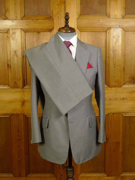 20/1010 vintage savile row bespoke grey worsted & mohair suit 40 regular
