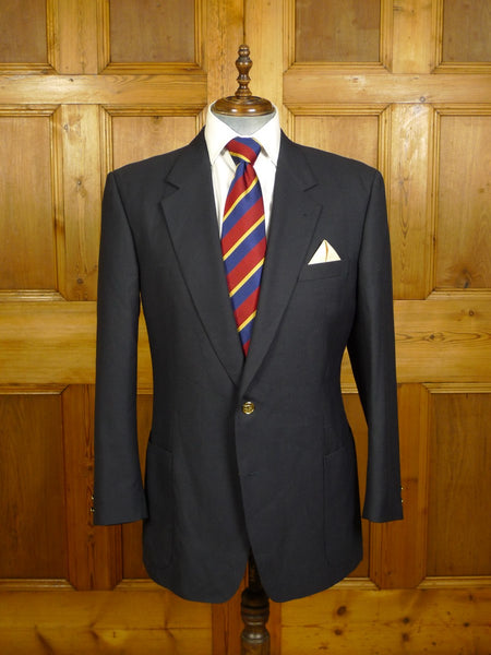 20/1020 immaculate burberrys navy blue worsted blazer 42 regular