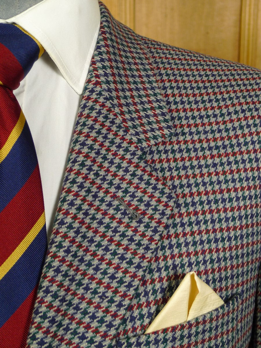 20/1073 near immaculate burberry wool & 30% cashmere check sports jacket 43 short