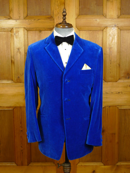 20/1164 wonderful mr eddie of soho canvassed royal blue velvet evening jacket 40 regular