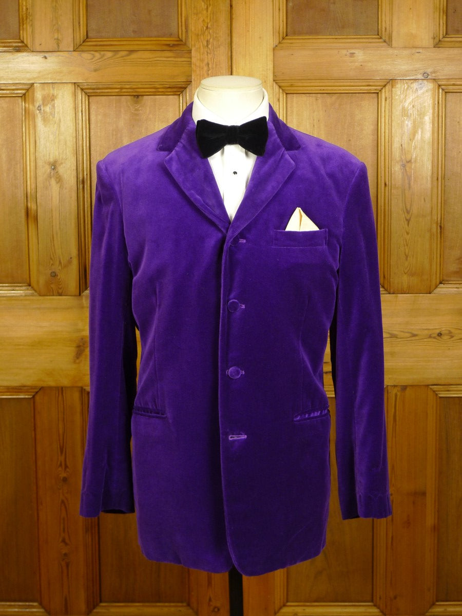 20/1169 wonderful mr eddie of soho mauve velvet evening jacket 39 regular